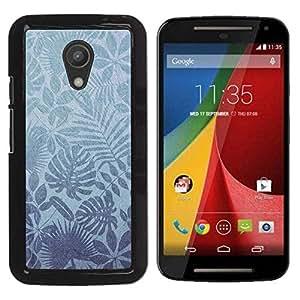 PC/Aluminum Funda Carcasa protectora para Motorola MOTO G 2ND GEN II Nature Leaves Tropical Wallpaper / JUSTGO PHONE PROTECTOR