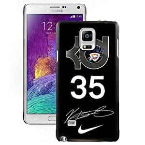 Fashionable Samsung Galaxy Note 4 Case ,Unique And Lovely Designed Case With Oklahoma City Thunder Kevin Durant 8 Black Samsung Galaxy Note 4 Cover Phone Case