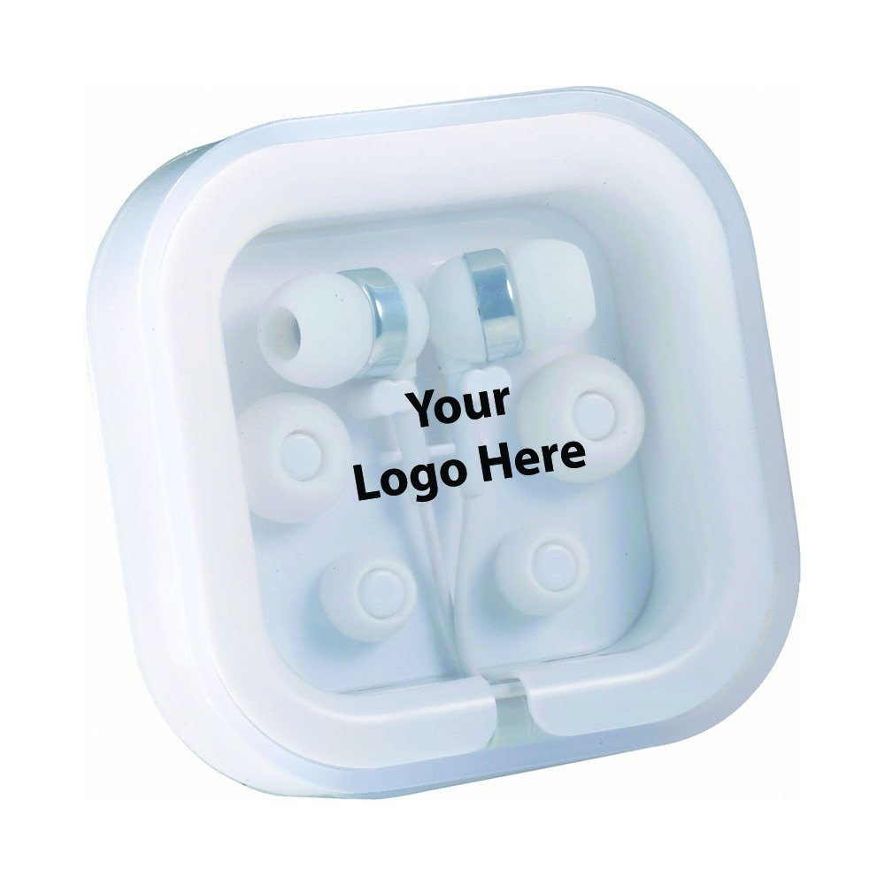 Color Pop Ear Buds With Mic - 96 Quantity - $5.40 Each - PROMOTIONAL PRODUCT / BULK / BRANDED with YOUR LOGO / CUSTOMIZED by Sunrise Identity