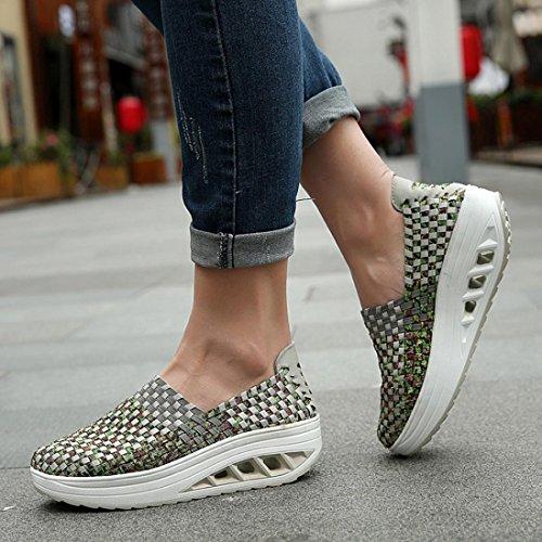 Scarpe Sneaker Donna Stringate Primo Scarpe Scarpe Giorno Comode Comode Sportive alla Grande Stringate Casual Promozione Moda Suole da Piattaforma Grigio xwzqXR4tP
