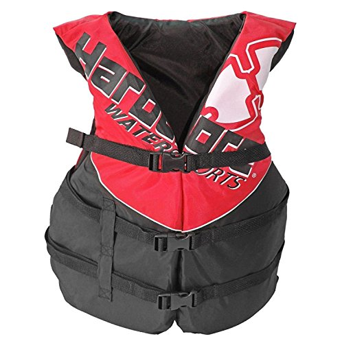Hardcore Water Sports Adult Life Jacket Vest - US Coast Guard Approved Type III (Red Adult Universal)