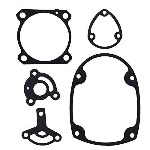 Superior Parts GS1-Q Aftermarket Gasket Set fits Hitachi NR83A and NV83A Series Nailers Includes (SP877-325Q, 326Q, 329Q, 331Q, 334Q) 5 PACK - Premium Materials Stainless Steel with Rubber Coating (Aftermarket Gasket)