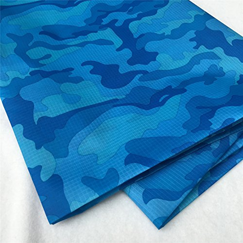 (ZAIONE Printed Ripstop PU Coating Waterproof Fabric by The Yard Width 58