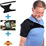 Fully Adjustable Shoulder Stability Brace for Your Injured Shoulder, Free eBook Included, Hot/Cold Pack Pocket, Unisex Shoulder Brace for Rotator Cuff, AC Joint, Instability, Tendonitis, Arthritis