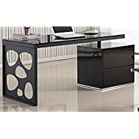 J and M Furniture 17917 KD01R Modern Office Desk