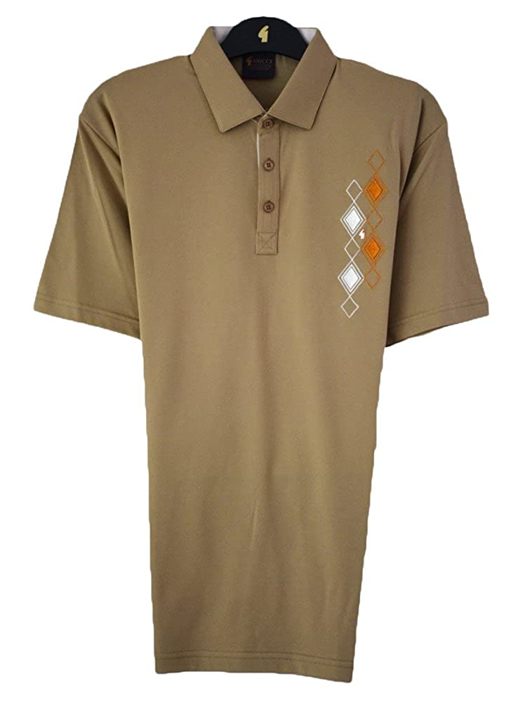 Gabicci Plain polo shirt with diamond pocket top detail