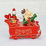 New Christmas Decorations Creative Music Box Deer Car Cartoons Gift Boxes Desktop Ornaments Decorative Gifts Deer pull cart music box
