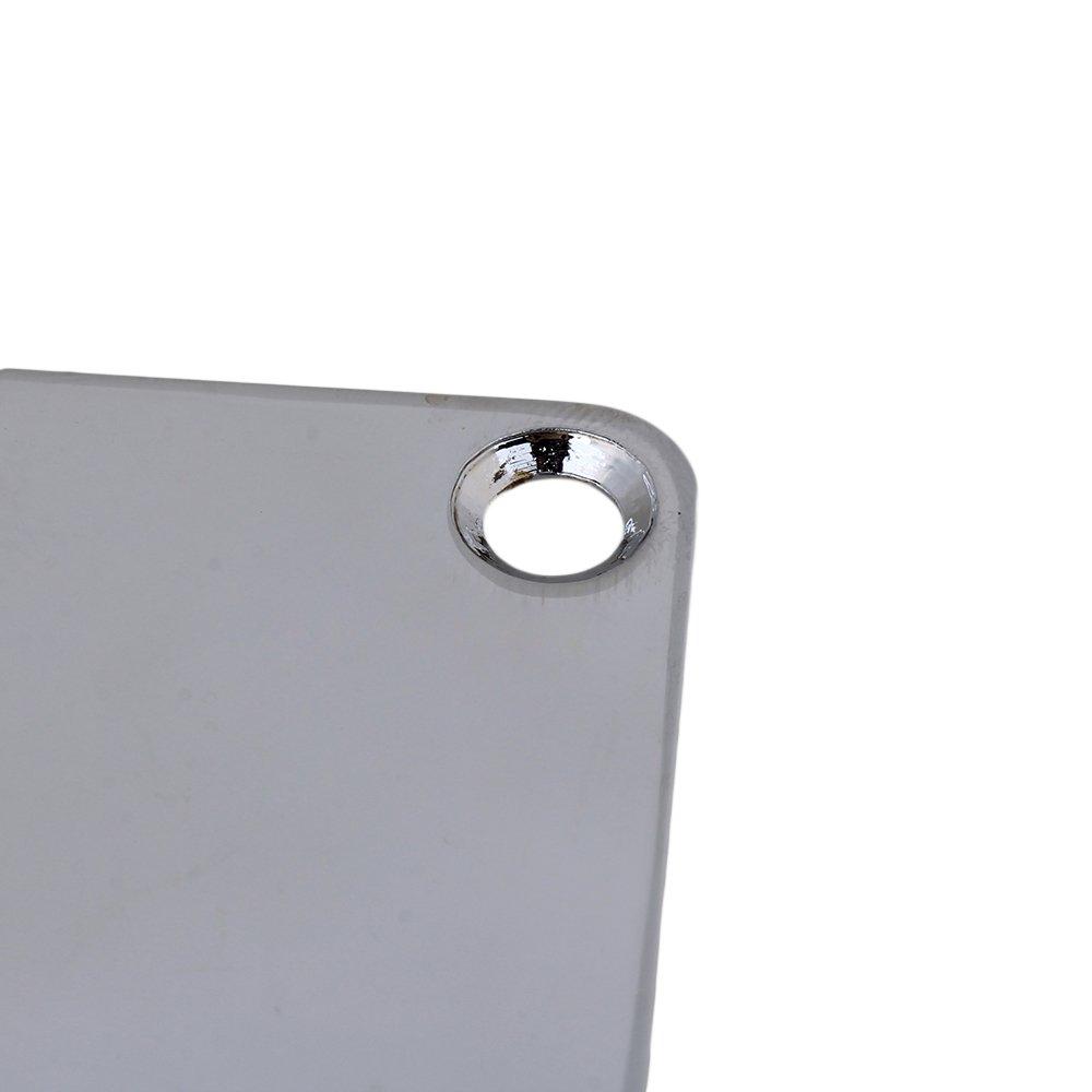 yibuy cromado de forma cuadrada DIY cuello placa & tornillo para guitarra eléctrica de repuesto: Amazon.es: Instrumentos musicales