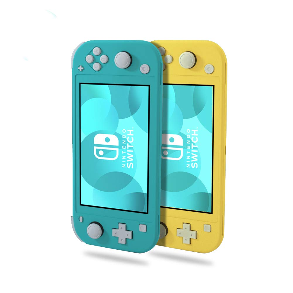 Switch Lite Silicone Case, IKITS【2Pack】Soft Silical Gel Protective Case for Switch Lite Ultra Slim Cover with Anti-slip Twill Comfortable Switch Skin Case Fit with Nintendo Switch Lite Game Console