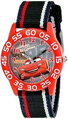 Disney Kids' W001954 Cars Analog Watch With Striped Nylon Band from eWatchFactory