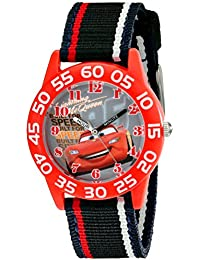 Kids' W001954 Cars Analog Watch With Striped Nylon Band