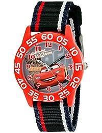 Disney Kids 'w001954coches reloj analógico con banda de nylon de rayas