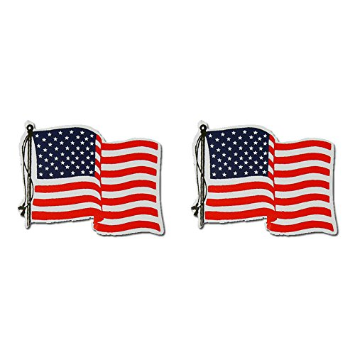 Hot Leathers, 2 x AMER. FLAG RIGHT - Small, Bikers Motorcycle Helmet, Sticker DECAL (Pair) - 3