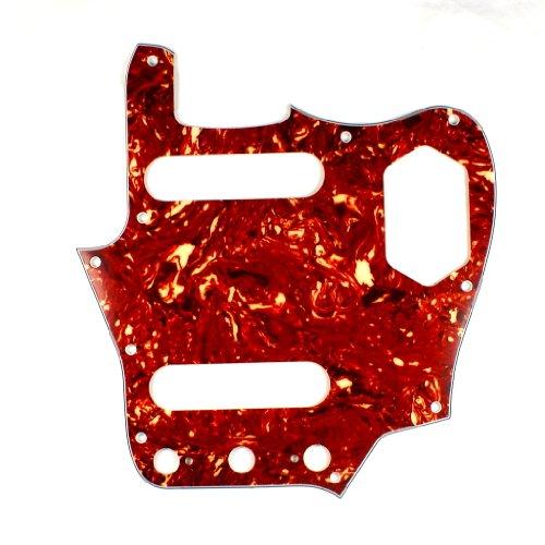 (Custom Guitar Pickguard Fits Jaguar style, 4ply Tortoise Red/Vintage Reissued or SVM model)