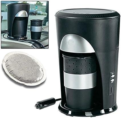 Cafetera monodosis de café de viaje de 12 V, para coche, camping, conexión al encendedor del coche: Amazon.es: Electrónica
