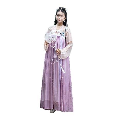 YCWY Traje Chino Antiguo de la Mujer, Vestido de Gasa ...