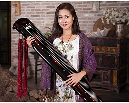 Cinnabar Type - cinnabar guqin fu xi Type Lyre Chinese 7 Strings Ancient Zither Chinese Musical Instruments zither 100% solid AAA fir wood Guqin