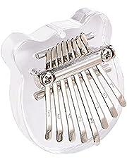 $24 » [Mini]Kalimba 8 Keys Cute Portable Thumb Piano Exquisite Finger Piano Musical Instrument Sapele Wood Marimba Good Accessory Pendant Gift for Kids Adult Beginners