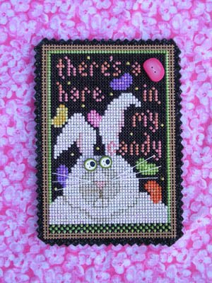 Vals Stitch - There's A Hare In My Candy Cross Stitch Chart and Embellishment