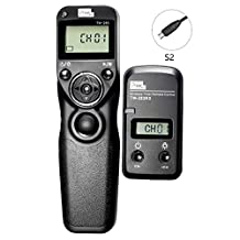 PIXEL TW-283/S2 LCD Wireless Shutter Release Timer Remote Control for Sony a7 Series, a7ll, a7R, a7Rll, a7S, a3000, a58, a5100, a6000, HX400, NEW-3NL