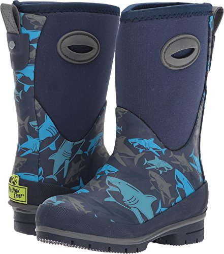 Western Chief Kids Cold Rated Neoprene Memory Foam Snow Boot, Shark Attack, 4 M US Big Kid