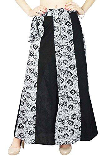 Phagun rversible Robe Coton magique Wrap Jupe longue Sari Sarong Image en Noir et Blanc Cass