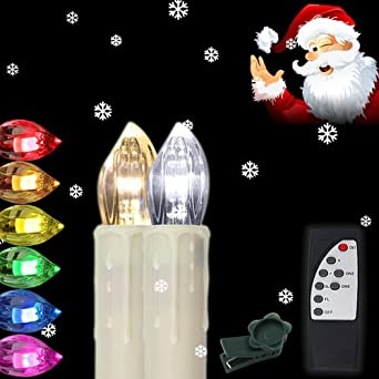 Weihnachtsbeleuchtung Innen Kerzen.Hengda 40x Led Kerzen Kabellose Rgb Lichterkette Innen Deko Weihnachtsbeleuchtung Set Mit Fernbedienung