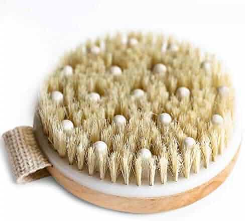 Dry Brushing Body Brush - Round Exfoliating Brush, Body Brush, Dry Brush for Cellulite and Lymphatic Drainage Massager, Body Scrubber Brush for Skin & Body Exfoliator, Skin Brush