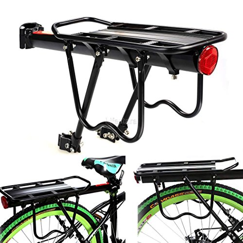 Ancheer Rear Bag Pannier Rack Alloy Bike Bicycle Seat Post Frame Carrier Holder