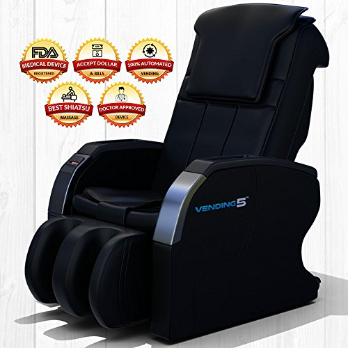 Vending 5 Massage Chair by Medical Breakthrough (Black) - FOR BUSINESSES