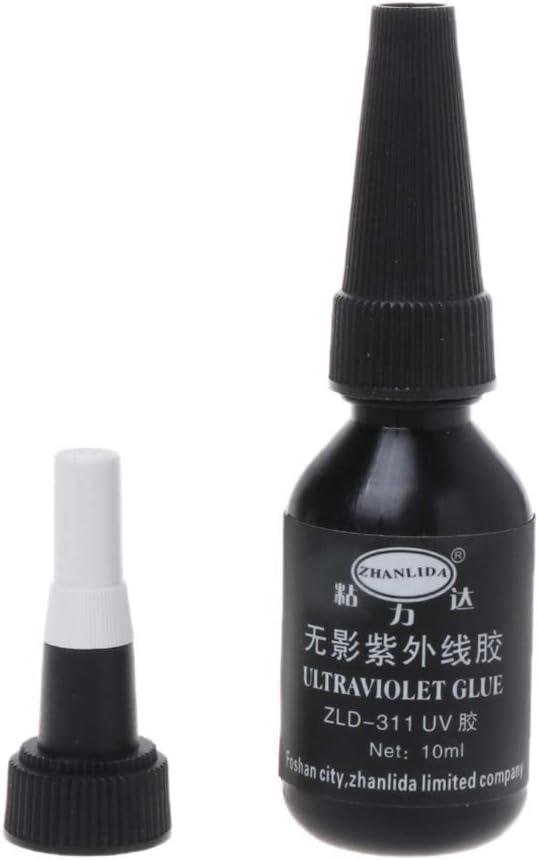 BIlinl Pegado Fuerte Adhesivo de la luz UV del Pegamento Ultravioleta Cristal de Cristal de cer/ámica