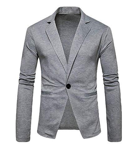Colour One Lunghe Primavera Hellgrau Maniche Leisure Suit Abiti Da Autunno Giacca Fit A Comode Uomo Giacche Pure Slim Taglie Button Blazer 7fPUwU4xq