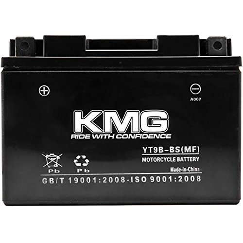 KMG YT9B-BS Sealed Maintenace Free 12V Battery High Performance SMF OEM Replacement Maintenance Free Powersport Motorcycle ATV Scooter Snowmobile Watercraft KMG