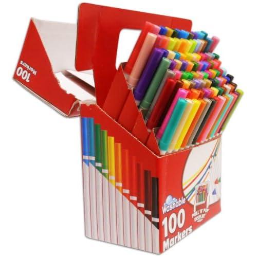 Rose Art SuperTip Assorted Color Washable Markers 100-Pack