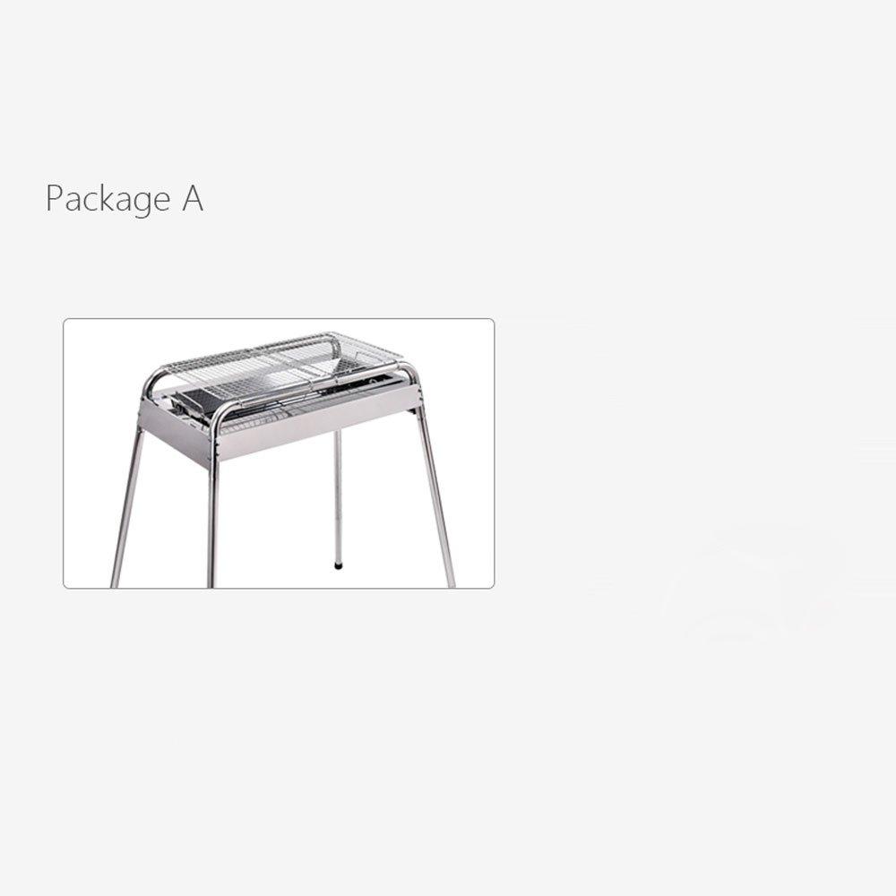 バーベキュー屋外ステンレススチールポータブル炭のバーベキューホームスモークフリーバーベキューストーブは、炭素のオーブンを折ることができます (Size : Package B) B07DWSMPJ5 Package B  Package B