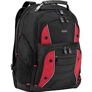 Targus Drifter II Backpack for 17-Inch Laptop, Black/Red (TSB23903)