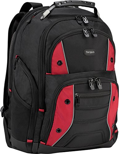 Targus Drifter II Backpack for 17-Inch Laptop, Black/Red