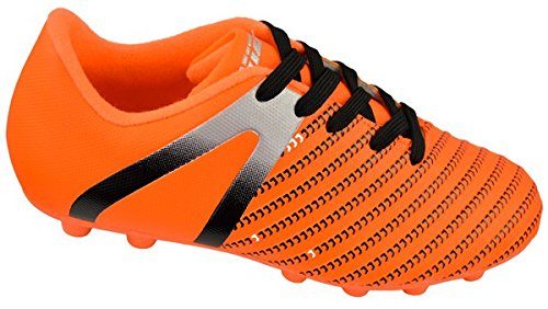 ct FG Soccer Cleats | Soccer Cleats Boys | Kids Soccer Cleats | Outoor Soccer Shoes | Impact Orange/Silver 10.5 ()