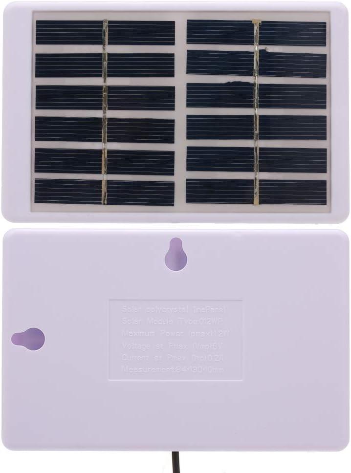 Festnight Chargeur Solaire 1.2W 6V avec Panneau Solaire polycristallin 84 130mm de Chargeur de Batterie de c/âble de Sortie de 5521 CC 3M pour la Pompe Solaire l/ég/ère de Jardin//trafic//Secours