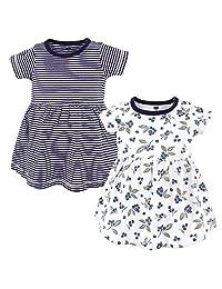 ceadf212eb791 Hudson Baby Baby Girls Cotton Dress, 2 Pack