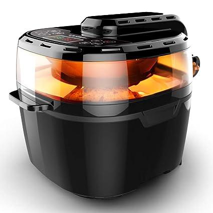 Deluxe 10l 1200w Freidora de aire caliente,Ventana de visualización Freidora Inteligente Máquina de patatas