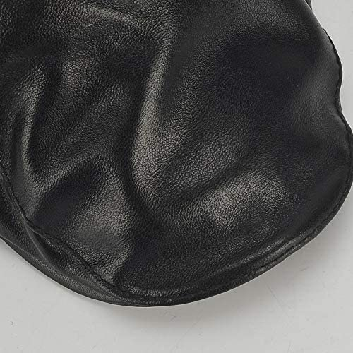 野球帽 キャスケット メンズ 鳥打帽 ゴルフ 革 調整可能 日よけ 防風 ハンチング 56-60cm LWQJP (Color : ブラック, Size : One Size)