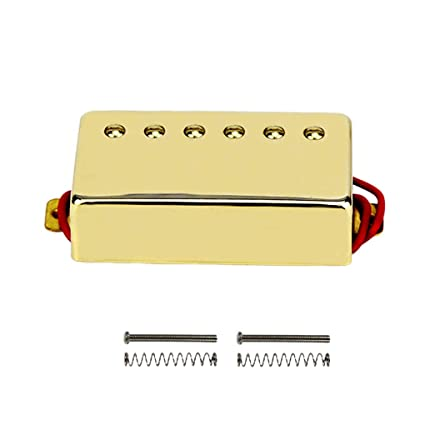 IKN Neck Humbucker Pickup Double Coil Golden Pickup for Gibson Les Paul  Style Guitar