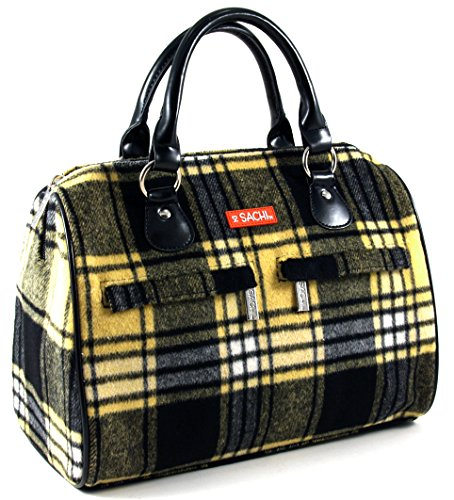 sachi-woolies-yellow-plaid-insulated-lunch-tote