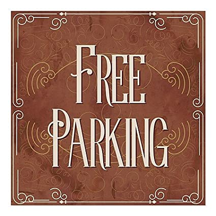 CGSignLab Classic Brown Window Cling Customer Parking Only 5-Pack 24x24