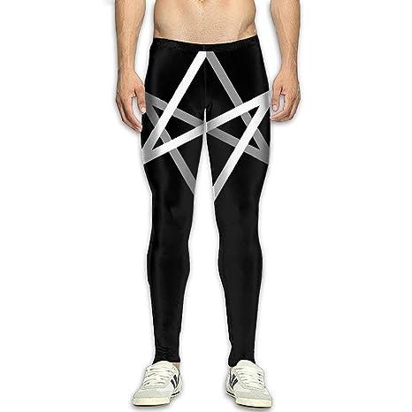 341151297d0a Amazon.com   NKUANYJYDKN7 Men s Unicursal Hexagram Yoga Pants Sports ...