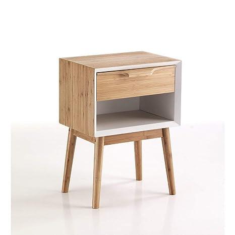 Contemporary Wood Mesita De Noche Hijo