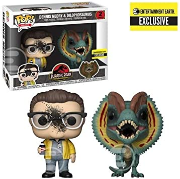 Jurassic Park Dennis Nedry and Dilophosaurus Goo-Splattered Pop ...