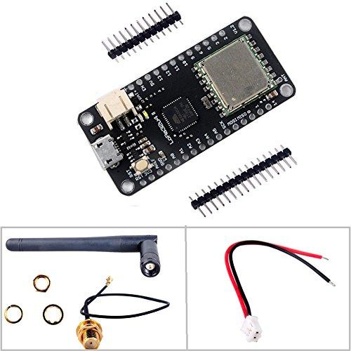 LoRa32u4 II Development Board 915MHz LoRa Module IOT SX1276 HPD13 Wifi Transceiver+ 2dBi SMA IPEX Antenna +JST PH2.0mm Terminal Connector Plug for Arduino Geekstory by Geekstory