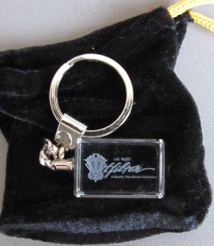 las-vegas-hilton-hotel-casino-acrylic-floating-3d-hologram-key-chain-keychain-w-key-ring-velvet-tie-